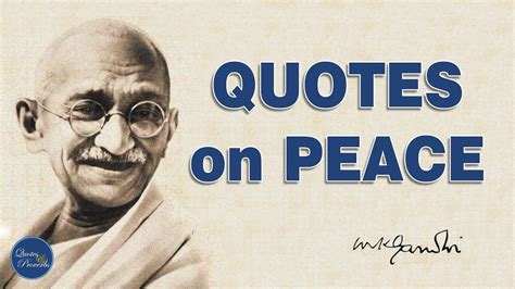Gandhi s quotes on Peace   YouTube