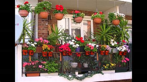 [Garden Ideas] Balcony plant pots ideas   YouTube