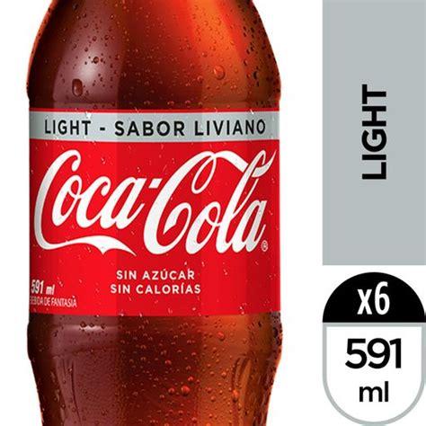 Gaseosa Coca Cola Light Desechable Sixpack 591mL/u en ...
