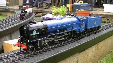 Gauge 1 Live Steam express trains running on a New Track ...