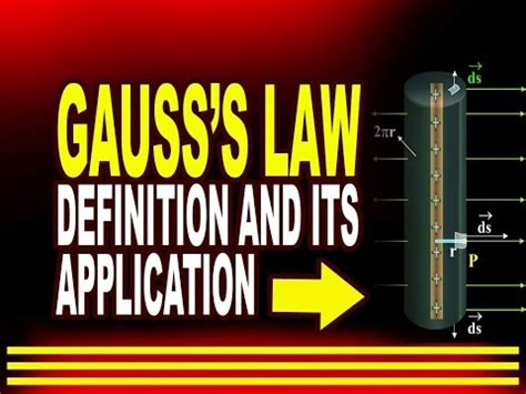 Gauss's law : Definition and its Application   YouTube