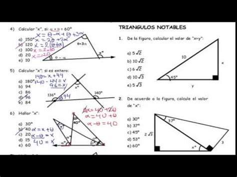 Geometría triángulos  Ejercicios Básicos    YouTube