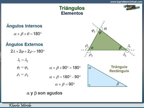 GEOMETRÍA. Triángulos. Elementos y Propiedades   YouTube