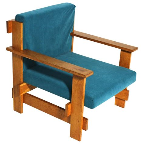 Geometric Bauhaus Lounge Chair in the Style of Josef ...