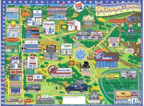 Georgetown Delaware Cartoon Map   Georgetown Delaware ...