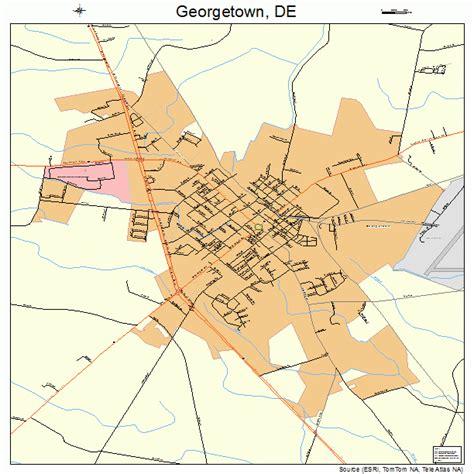 Georgetown Delaware Street Map 1029090