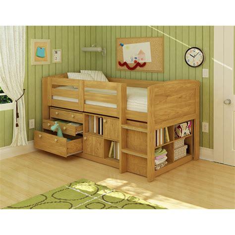 Georgetown Storage Loft Bed, Natural   Walmart.com ...