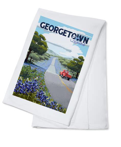 Georgetown, Texas   Bluebonnets & Highway   Lantern Press ...
