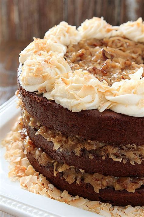 German Chocolate Cake with Rum Glaze and Buttercream ...