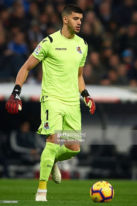 Geronimo Rulli of Real Sociedad in action during the La ...