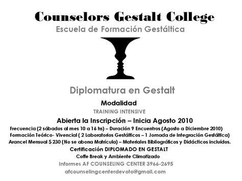 GESTALT SCHOOL: ESCUELA DE GESTALT INICIO AGOSTO 2010