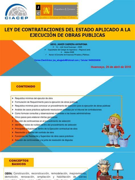 Gestion de Las Contrataciones Del Estado Aplicado a La ...