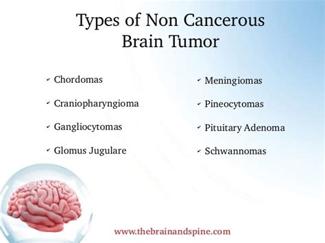 Get info about types of brain tumors non cancerous. Look ...
