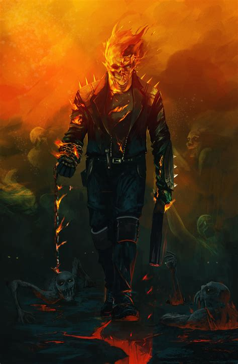Ghost Rider MCU Art Wallpaper, HD Superheroes 4K ...