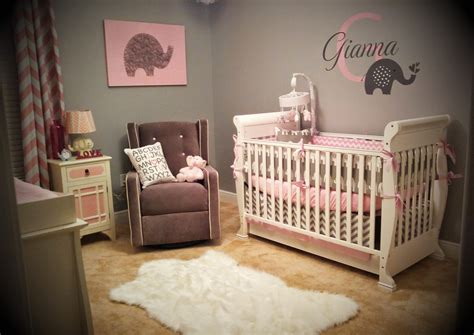 Gianna s Pink and Gray Elephant Nursery Reveal   Project ...