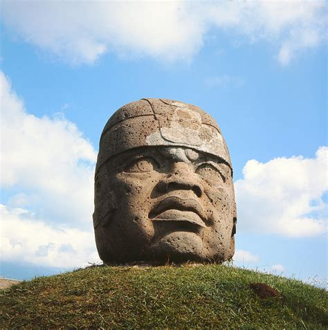 Giant Head, Olmec Culture Stone Photograph by Pre Columbian