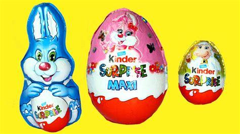Giant Kinder Easter Egg 2017 Chocolate Bunny Surprise Egg ...