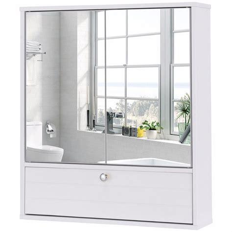 Giantex Bathroom Cabinet Double Mirror Door Wall Mount ...