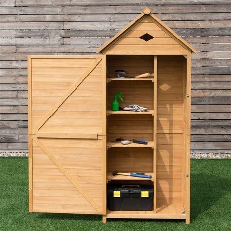 Giantex Single Door Outdoor Storage Cabinet Unit Fir ...