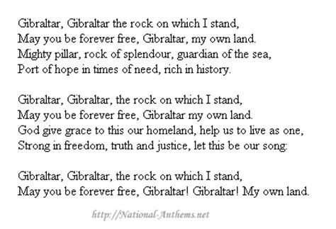 Gibraltar national anthem