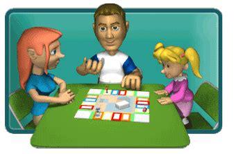 GIF animado  70911  Familia jugando juego mesa en Familia ...