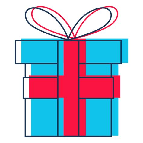 Gift box cartoon icon 44   Transparent PNG & SVG vector file