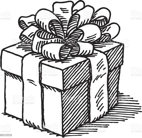 Gift Box Drawing Stock Illustration   Download Image Now ...