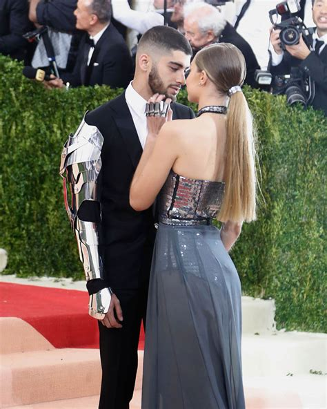 Gigi Hadid and Zayn Malik affectionate at the 2016 MET ...
