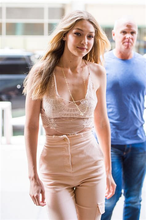 Gigi Hadid wore a top that looks like it was made out of ...