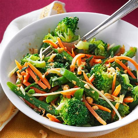 Ginger Sesame Steamed Vegetable Salad Recipe | Taste of Home