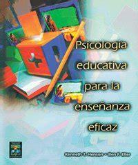 Ginlogelrext: libro Psicologia educativa para la enseñanza ...
