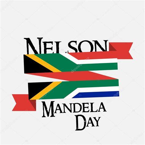 Giornata internazionale Nelson Mandela — Vettoriali Stock ...