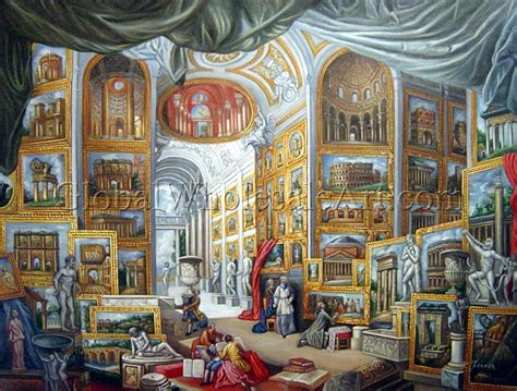 Giovanni Paolo Pannini   A Gallery With A View Of Ancient ...