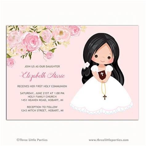 Girl First Communion Invitation, Invitacion Primera ...