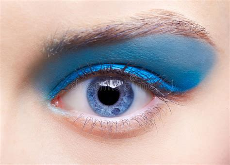 Girl s eye zone makeup stock image. Image of gorgeous ...