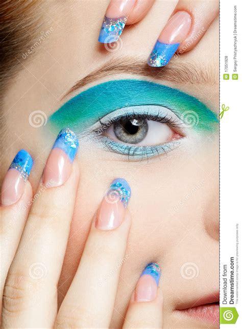 Girl s eye zone makeup stock photo. Image of female ...
