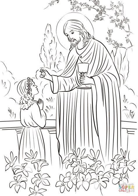 Girl s First Communion coloring page | Free Printable ...
