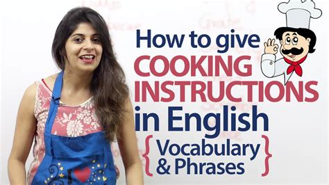 Giving cooking instructions in English   Vocabulary and ...