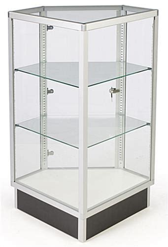 Glass Cabinets | 28  Corner Display w/ Hinged Door ...