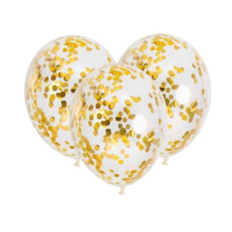 Globo de látex blanco con confetti oro de 30 cm   3 unidades