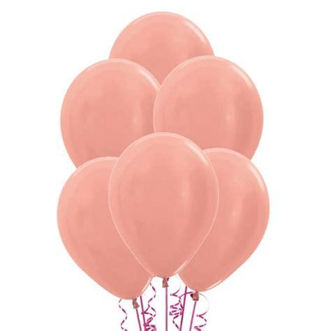 Globo de látex metalizado rosa dorado   50 unidades