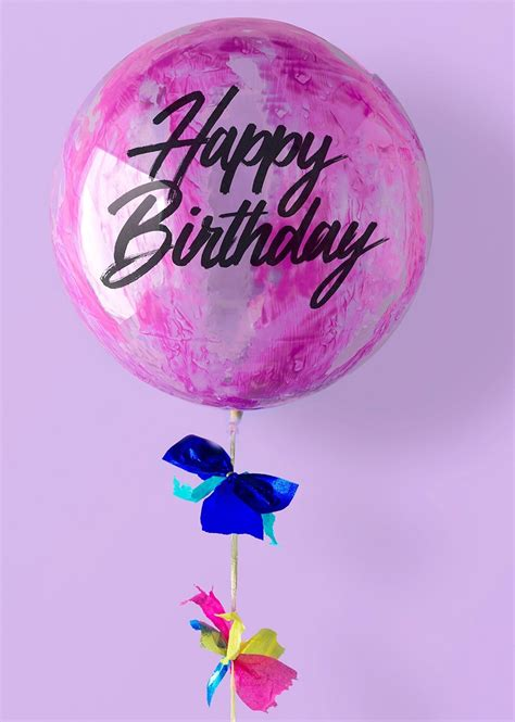 Globo Decorado Happy Birthday