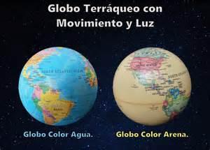 Globo Terraqueo Con Luz Y Movimiento   $ 360.00 en Mercado ...