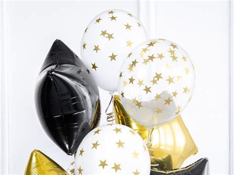 Globos de látex transparente con estrellas doradas de 30 ...
