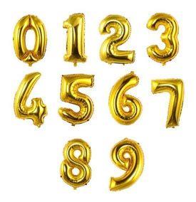 Globos de número Grandes Dorados X 1 – El Cotillonero