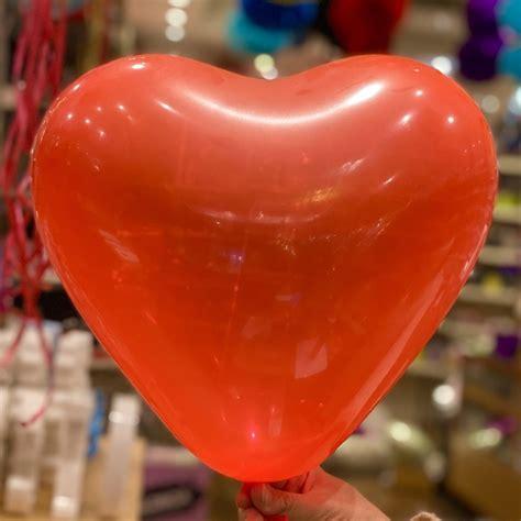 Globos latex forma corazón rojo x5
