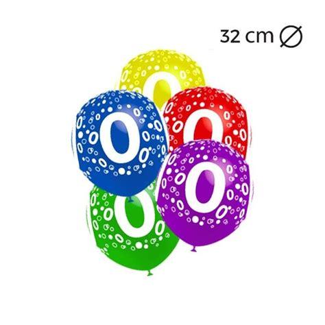 Globos Número 0 Redondos 32 cm   Comprar Online