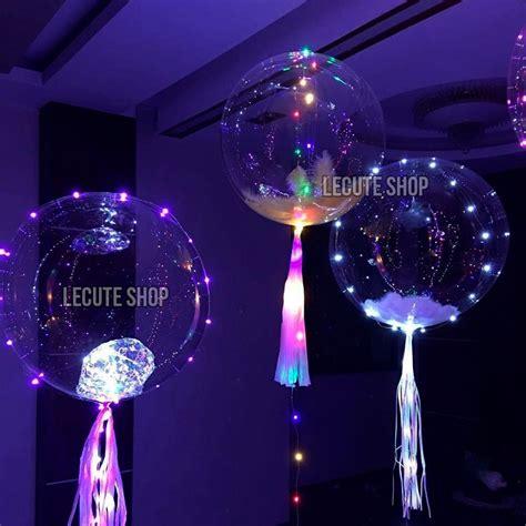 Globos Transparentes Luz Led 40 Cm Fiesta Decoracion Neon ...