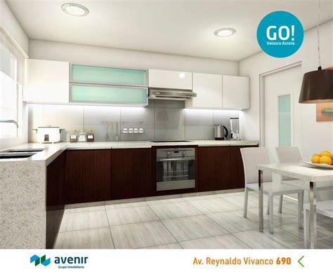 GO! Velasco Astete | Cocina con muebles altos y bajos ...
