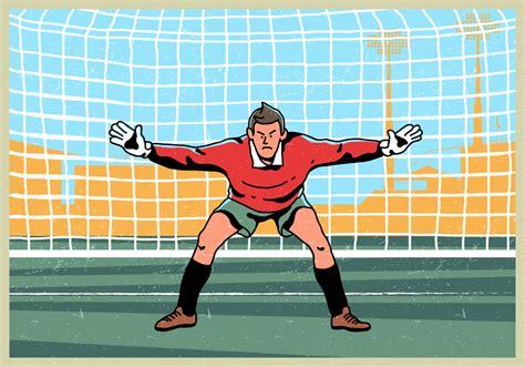 Goal Keeper Standing Vector   Download Free Vectors ...
